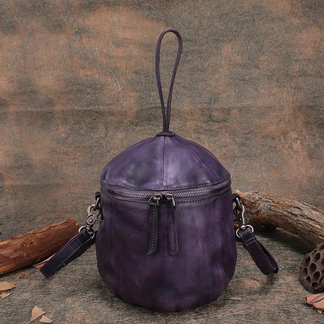 2017 New Arrival Genuine Leather Handbag Women Handmade Women Bags Bucket Style Female Shoulder Bag Vintage Messenger Bag