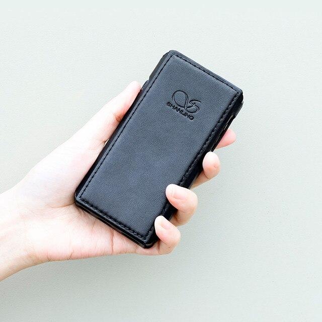 SHANLING étui en cuir pour M5s lecteur MP3 Mini DAP lecteur de musique noir/marron
