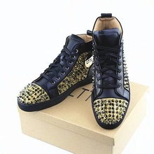 LTTL Classic Fashion Rivets Sneakers Genuine Leather Men Shoes Handmade Lace-up High Top Sneakers Patchwork Casual Flats Shoes pu patchwork lace up sneakers