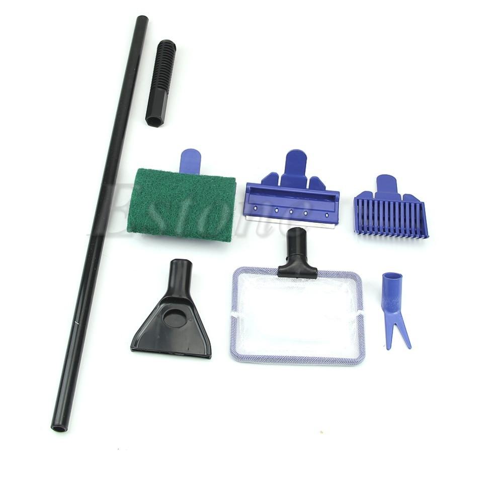 Aquarium fish tank sand - 1set 5 In 1 Aquarium Fish Tank Cleaning Kit Tools Brush Clip Sand Dredging Scraper