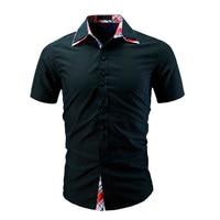 Oxford Cotton Shirt Men Summer Brand New Men Shirt Short Sleeve Slim Fit Homme Casual Button Down Mens Dress Shirts 6009