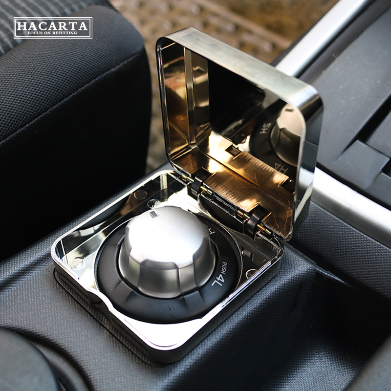 dmax 2012+ fashion car accessories for D-MAX MU-X All-wheel-drive box to protect 4WD switch cover chromium ABS Transparent Box