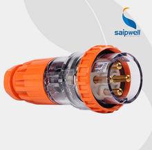 Saipwell Hot Sale Waterproof and Dustproof Plug 56P450 50A Industrial Outdoor Plug saipwell new outdoor use high quanlity waterproof instrument box network cabinet 400 300 160mm type sp ag 403016