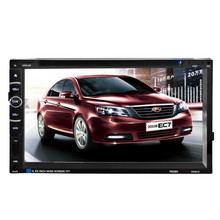 "New 7"" Double 2 Din Touchscreen In dash Car Stereo Radio Mp3 CD DVD Player FM Aux F6080 Car Styling"