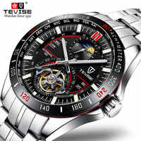 Top Brand Luxury TEVISE Luminous Watch Men's Stainless Steel Strap Sports Waterproof Wrist Watches For Business