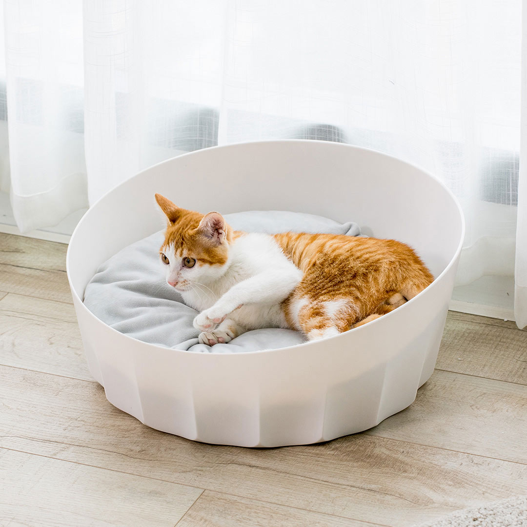 Xiaomi Jordan&Judy Pet Nest Bed Round Easy To Disassemble Dogs Cats Net Bed with Soft Mat