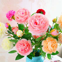 Buy western wedding decorations and get free shipping on 1pc continental core 3 peony western rose wedding decoration artificial flowers artificial flowers festive party supplies junglespirit Gallery