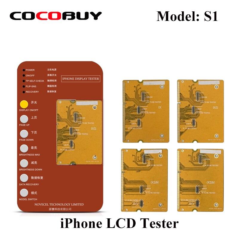 Affichage numériseur écran tactile testeur outil iPhone X XS XR XSMAX Test carte mère LCD écran avant panneau tactile fonction Test