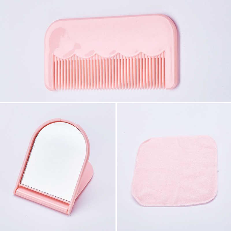 Dropshipping 9 pçs/set Kits de Maquiagem Spray Garrafas Shampoo Creme Loção Garrafa Recipiente De Viagem Toalha Conjunto com Bolsa SMJ