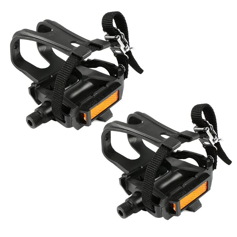 Cycling Road Bike Mountain Bicycle Toe Clips With Straps For Bike Pedal  JNWP4