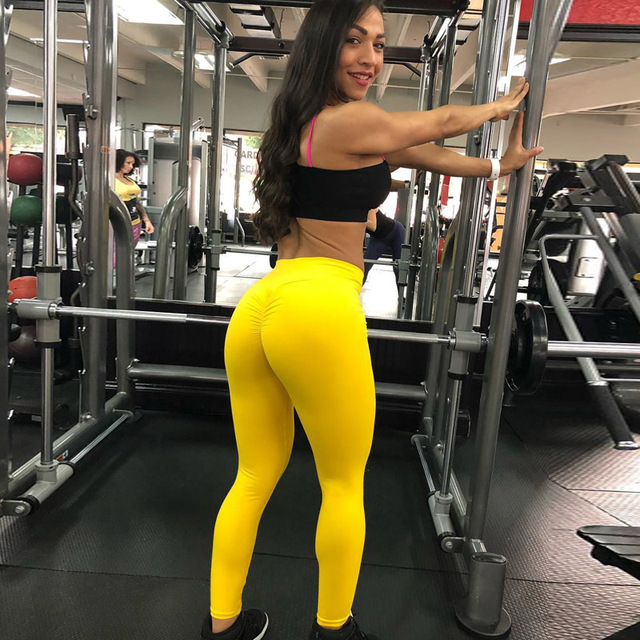 2020 Women Leggings Polyester High Quality High Waist Push Up Legging Elastic Casual Workout Fitness Sexy Bodybuilding Pants 10