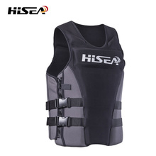 Hisea Jacket Life Vest Adult Neoprene Buoyancy Lifejacket For Swimming Surfing Fishing Kayak Boating Puddle Jumper Accessories