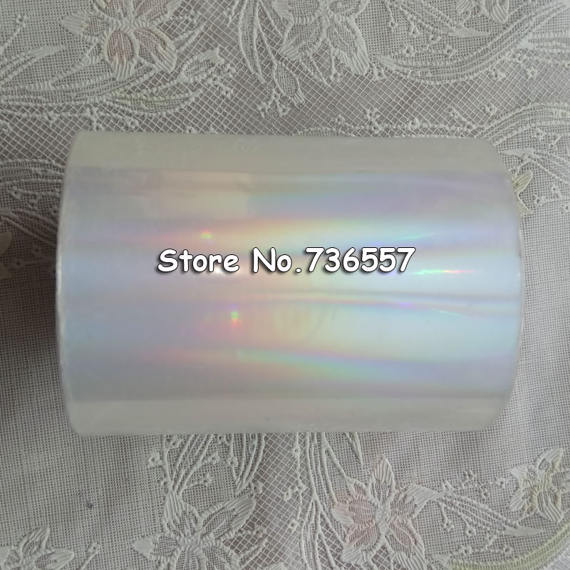 Holographic Foil Plain Transparent Foil Hot Stamping On Paper Or Plastic 8cm X 120m/Lot DIY Package Box