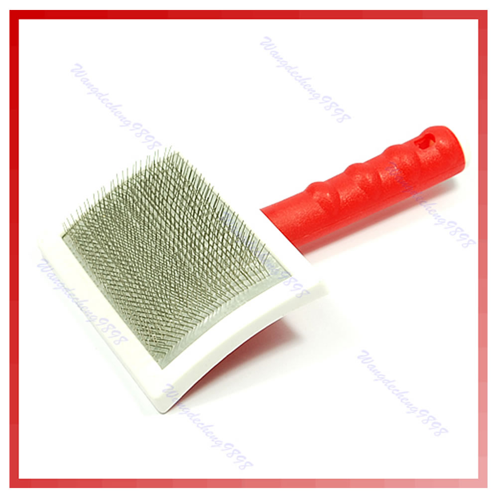 pet shedding grooming short slicker hair sheds puppy comb cleaning pink dog self brush long blue cat