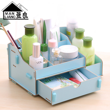 2017 Special Offer Hot Sale Organizer Organizador Cosmetic Storage Box, Desktop Drawer Type Wooden Large Skin Care Product Box