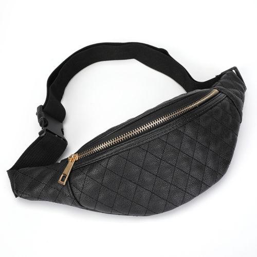 Women's Waist Bag Shiny Retro Fanny Pack Rave Festival Waist Pack Outdoor Travel Crossbody Hip Bag Female Zipper Waist Packs