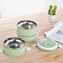 Multifunction 1/2/3/4 Layer Stainless Steel Bento Lunch Box Insulation Food Containers steel warming box lunch
