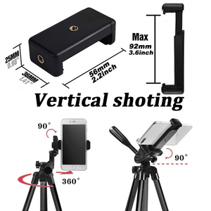 Image 4 - Mobile Phone Tripod Stand 40inch Universal Photography for Gopro iPhone Samsung Xiaomi Huawei Phone Aluminum Travel Tripode Para