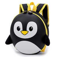 Mochila das crianças mochila escolar menino 3D EVA Nova Pinguim Mochila Casca Dura Mochila Encantador Dos Desenhos Animados Mini Kids Sacos Bonitos