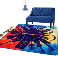 Modern Square Carpet The Music World Pattern Living Room Parlor Sofa Chair Floor Mats Bedroom Bedmats
