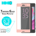 """Premium Glossy 3D full Curved Edge Tempered Glass film For Sony Xperia X 5.0"""" full coverage Phone Screen Protector Films"""