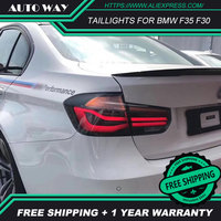 Car Styling Taillights case For BMW F35 F30 318i 2013 2017 Taillights LED DRL Running lights Fog lights tail lights Rear parking