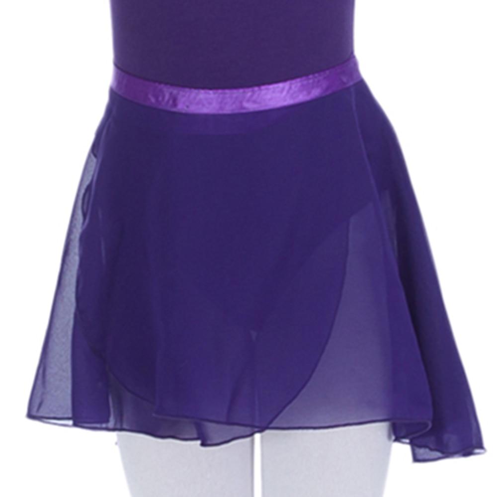 Danceru0026#39;s Choices Girls Ballet Dance Wrap Skirts Kids Purple Chiffon Wrap Skirts Dancewear Match ...