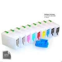 INK WAY 9 x Empty Refillable Cartridges for Epson pro3890 3880 3800C 3800 3850 pro 3890 plus chip resetter