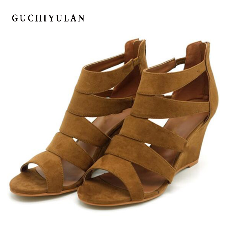 Genuine Leather Women Sandals High Heels 2018 New Summer Fashion Bandages Female Gladiator Sandals Platform Shoes Woman Size 40 woman fashion high heels sandals women genuine leather buckle summer shoes brand new wedges casual platform sandal gold silver