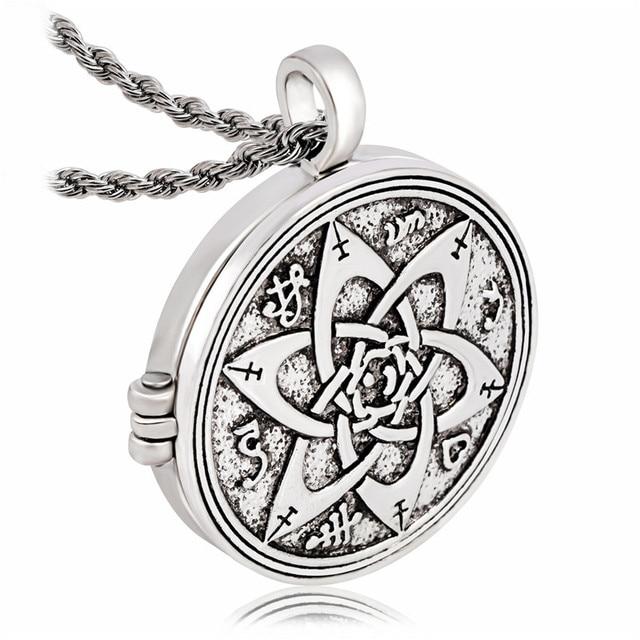 US $4 99  EZEI Talisman for Poets Writers and Actors Pentacle Pendant  Hermetic Jewelry Photo Photo Box Pendant Necklace-in Pendant Necklaces from