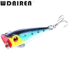 1PCS 5cm 4.9g mini Crank bait Popper Fishing Lures 3d Eyes Bait Wobblers Poper Crankbait Artificial Japan Hard Bait Tackle Isca