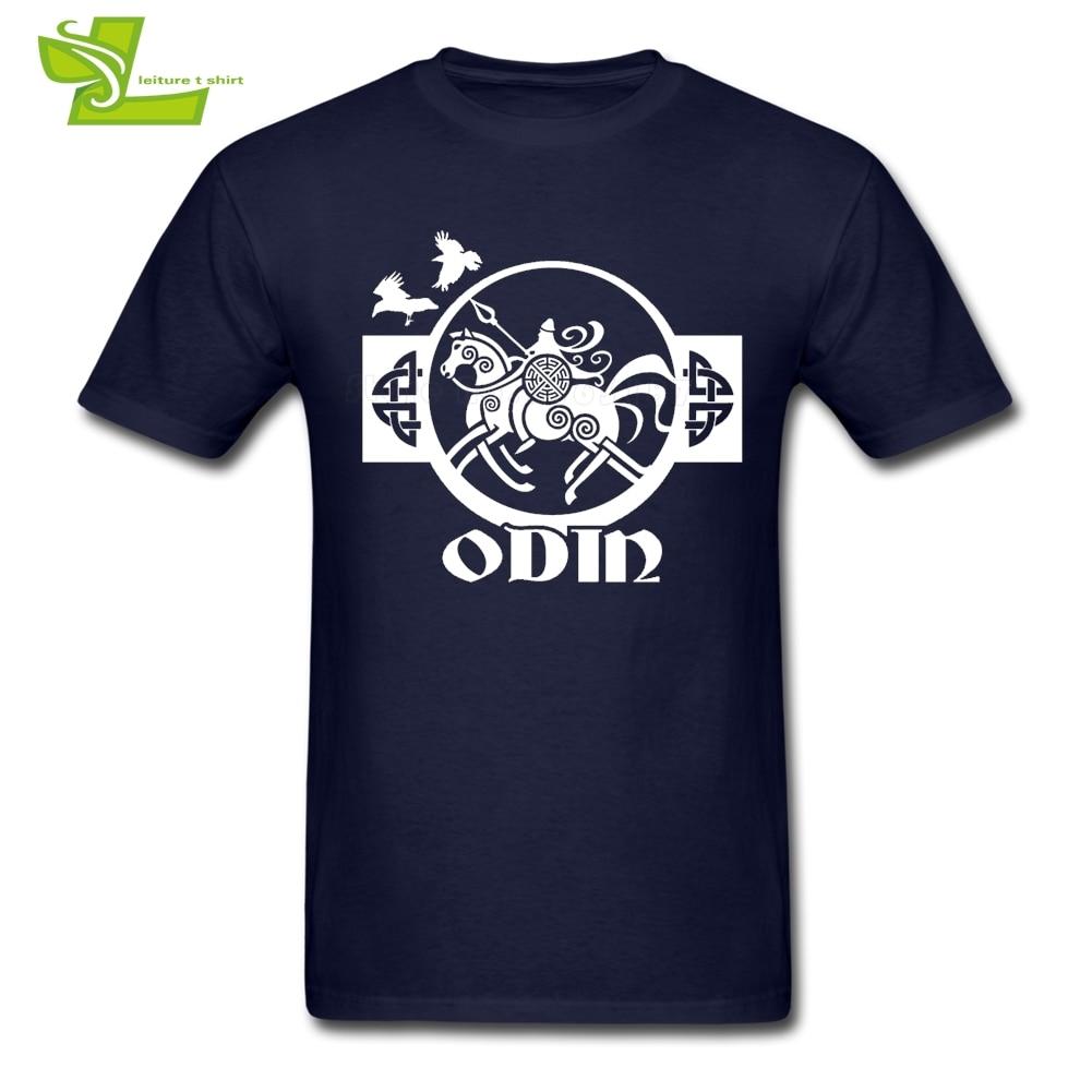 Odin Vikings Male T Shirt Leisure Normal Loose Tops Men Summer O Neck Tshirts Teenage Latest Simple Tee Shirt