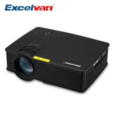 Excelvan EHD09 UC40s Mini LED Projector 800x480pixels 800 Lumens Home Cinema HDMI/USB/SD/AV/3.5mm GP9 Projector  uhappy multimedia mini led projector home theatre cinema 800 lumen 640 480 usb sd vga hdmi av micro usb atv 500 1 mini proyector