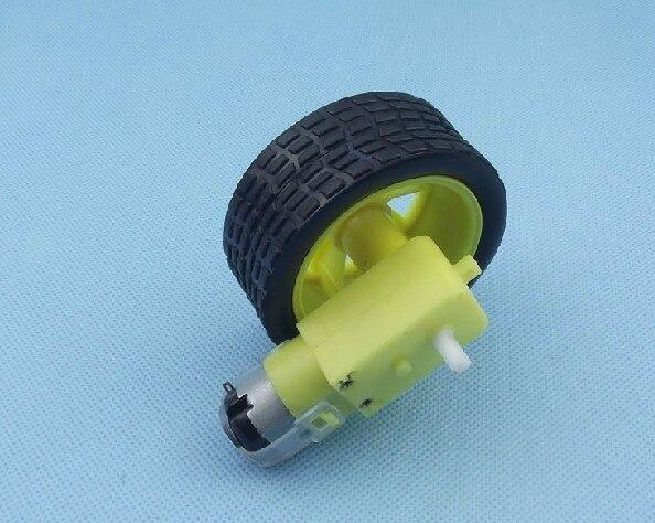 Freeshipping 6v DC Gear motor 65mm size Wheel smart car project