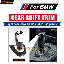 For BMW E39 E60 F10 F18 G30 G38 5-Series 528i 518i 520i Right hand drive Carbon car genneral Gear Shift Knob Cover&Surround A+C цены