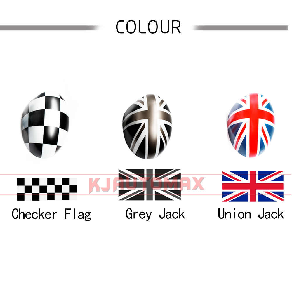 KJAUTOMAX For Mini Cooper Wind door ABS Outside Rear view Outside Mirror  Cover Cap Shell Union Jack Countryman Accessories