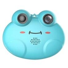 K5 câmera digital hd dos desenhos animados das crianças anti queda pequeno sapo câmera (azul)