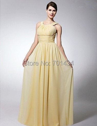 Elegant Yellow Wedding Dress