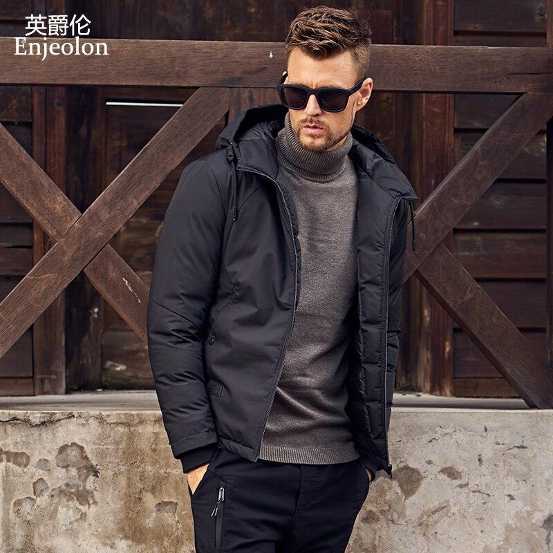 Enjeolon marque hiver coton rembourré veste hommes Hoodies veste manteau hommes Parka veste manteau épais matelassé mode manteau hommes MF0288
