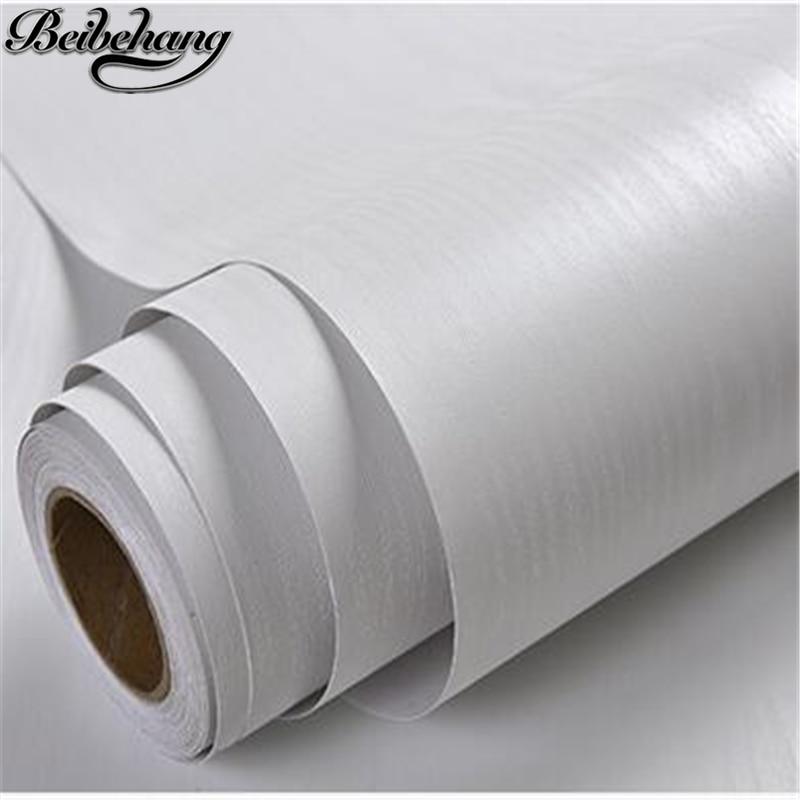 beibehang Thick wallpapers self-adhesive furniture refurbished stickers wardrobe wall stickers white wood waterproof wallpaper