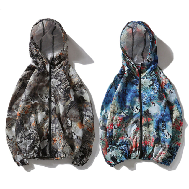 8574796171e82 YouthCodes Camouflage Camo Thin Jackets Men Brand W Graffiti Hip Hop  Skateboards Windproof Sunscreen Zipper Animal Army