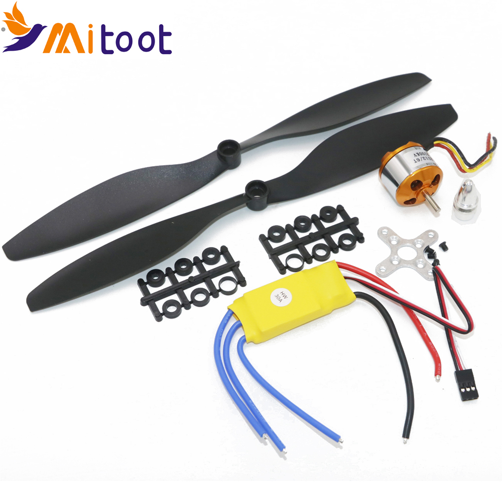 A2212 1000KV 2200 Brushless Outrunner Motor + SimonK 30A ESC + 1045 Propeller (1 par) Quad-Rotor Set for RC Aircraft Multicopter
