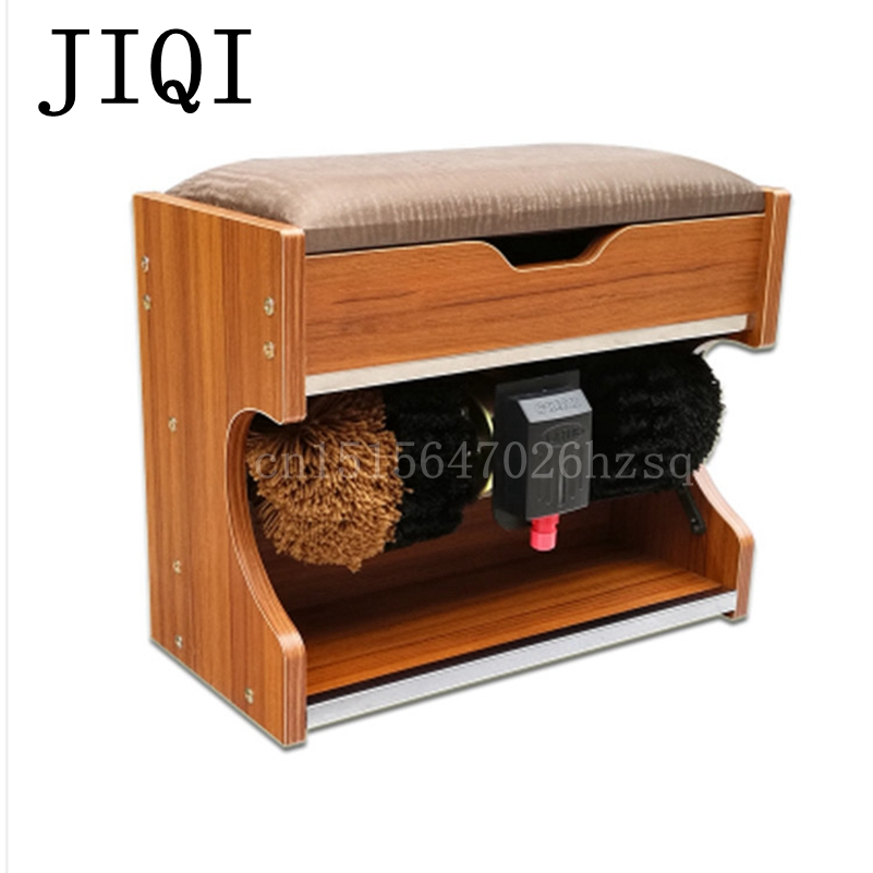 JIQI Automatic Shoe Polishing Equipment Household Commercial Shoe Polisher 2 Sizes Leather Shoe Cleaning Machine eelectrical soles shoes cleaner intelligent automatic shoe polisher shoes cleaning machine soles washing mahine brush eu us plug