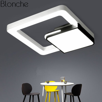 Modern Led Ceiling Light Super Thin Square Ceiling Lamps for Living Room Bedroom Kitchen Luminaire Nordic Creative Home Lighting