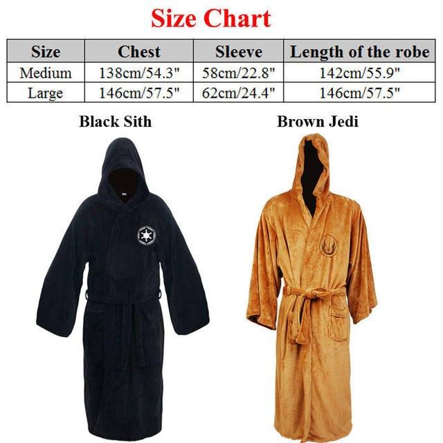 Online Shop Star Wars Jedi/Sith Adult Fleece Bathrobe Hooded Cosplay ...