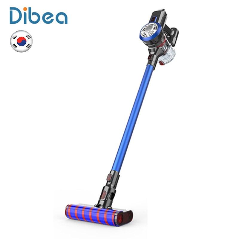 Dibea V008 Handheld Cordless Vacuum Cleaner 9000Pa Forte Sucção A Vácuo Aspirador de Pó Coletor de pó Aspirador Luzes LED Escova