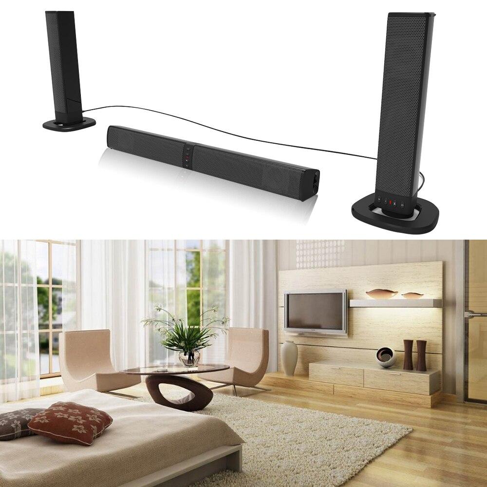 20 W (Amovible) bluetooth sans fil Colonne Soundbar haut-parleur stéréo TV Home Cinéma 2.0A batterie intégrée Son Bar TF USB FM