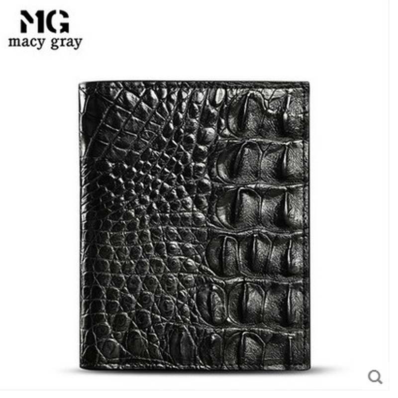 2019 meixigelei new hot crocodile skin men wallet  leather wallet short business youth cross-section men's wallet man