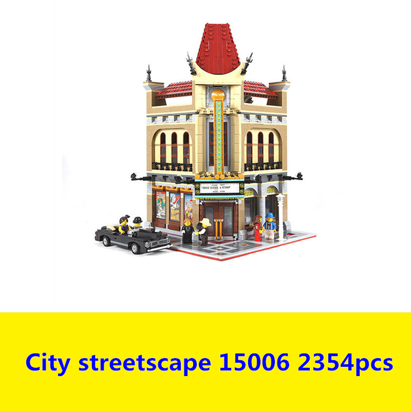 IN STOCK 15006 2354pcs Palace Cinema Model Building Blocks set Bricks LEPIN DIY Toys Compatible with 10232 Children Gift lepin 02012 city deepwater exploration vessel 60095 building blocks policeman toys children compatible with lego gift kid sets