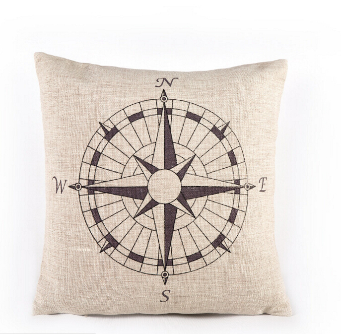 Free shipping high quality invisible zipper cushion cover /pillowcase  Sailing/navigationboat
